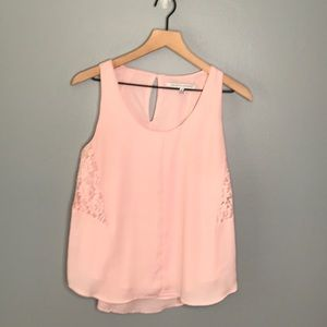 Collective Concepts pink chrochet tank top Small